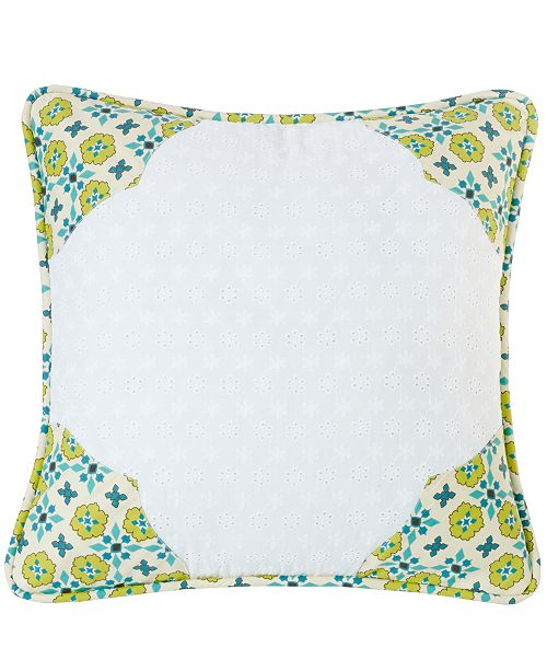"HiEnd Accents Scalloped Edges 18""x18"" Pillow"