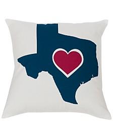 """Texas Heart 18""""x18"""" Pillow"""