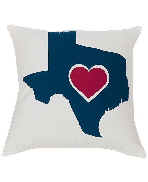 "HiEnd Accents Texas Heart 18""x18"" Pillow"