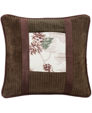 18x18 Pinecone Pillow with Corduroy Detail