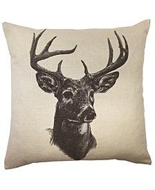 """18""""x18"""" Whitetail Deer Linen Print Pillow"""