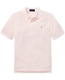 Polo Ralph Lauren Big Boys Pink Pony Classic Fit Cotton Mesh Polo