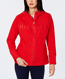 Tommy Hilfiger Sport Embroidered Logo Zip-Front Hoodie