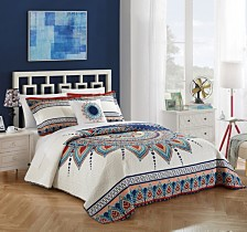 Chic Home Cypress 4 Piece King Quilt Set