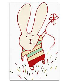 Carla Martell 'Flower Bunny' Canvas Art Print Collection