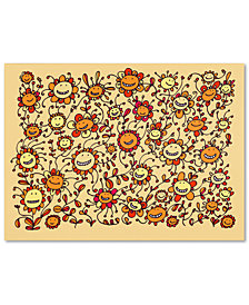 Carla Martell 'Smiling Sunflowers' Canvas Art Print Collection