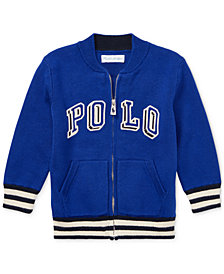 Polo Ralph Lauren Baby Boys Full-Zip Cotton Logo Sweater