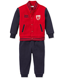 Polo Ralph Lauren Baby Boys Baseball Jacket & Jogger Pants Set