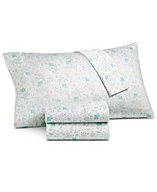 CLOSEOUT! Printed 4-Pc Queen Sheet Set, 300 Thread Count Hygro Cotton, Created for Macy's