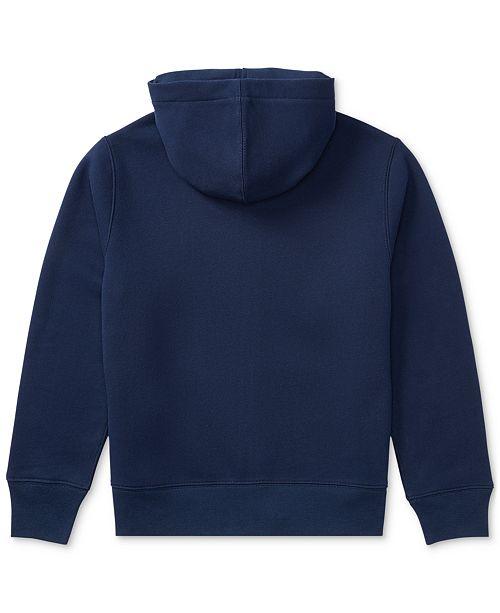 Polo Ralph Lauren Big Boys Full Zip Hoodie - Sweaters - Kids - Macy s 961ff76e20