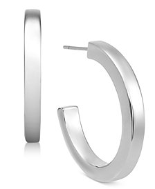 Alfani Silver-Tone Open Hoop Earrings, Created for Macy's