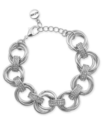 Image of Alfani Crystal Accent Multi-Hoop Link Bracelet, Created for Macy's