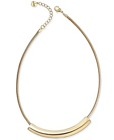 "Curved Bar Collar Necklace, 17"" + 2"" extender, Created for Macy's"