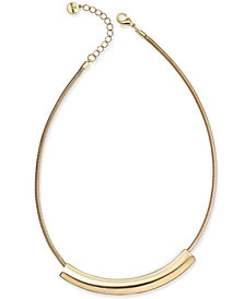"""Alfani Curved Bar Collar Necklace, 17"""" + 2"""" extender, Created for Macy's"""