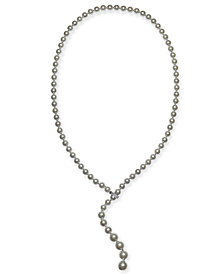 "Charter Club Silver-Tone Imitation Pearl 36"" Lariat Necklace, Created for Macy's"
