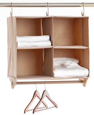 Neatfreak Cubby Organizer 4 Shelves With Hanging Bar