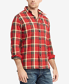 Polo Ralph Lauren Men's Classic Fit Plaid Cotton Workshirt