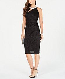 MSK Embellished Cutout Sheath Dress