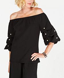 MSK Embellished Off-The-Shoulder Top, Regular & Petite Sizes
