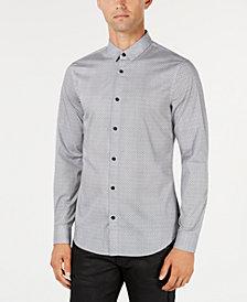 A|X Armani Exchange Men's Micro-Grid Shirt