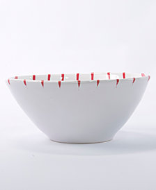Vietri Net & Stripe Red Stripe Cereal Bowl