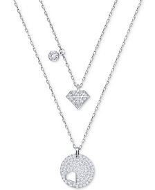 Receive a FREE Swarovski 2-Pc. Set Pavé Pendant Necklaces with any Swarovski purchase of $100 or more
