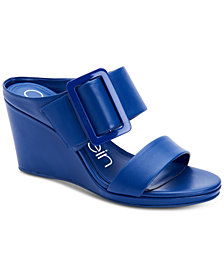 Calvin Klein Women's Brinlee Buckle Wedge Sandals