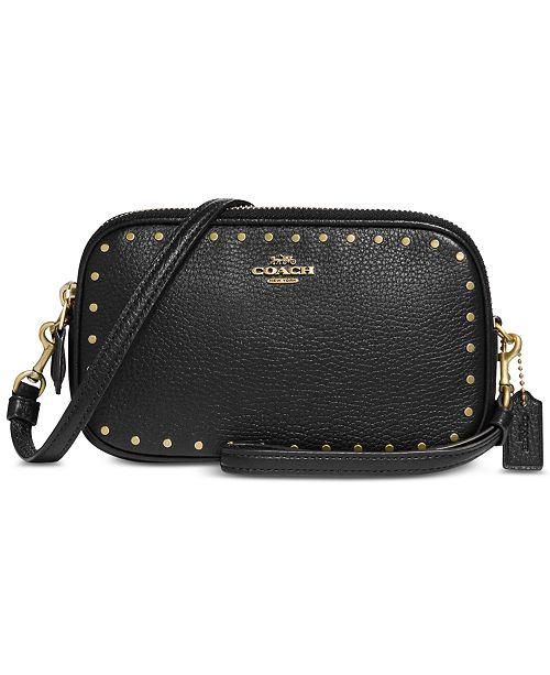 ec3245dbc2 COACH Border Rivets Crossbody in Pebble Leather   Reviews - Handbags ...