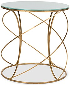 Cagney Glass Top Round Accent Table