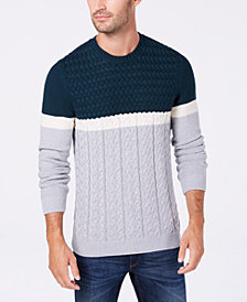 Tasso Elba Men's Orli Cable-Knit Sweater, Created for Macy's