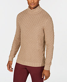 Tasso Elba Men's Cable-Knit Turtleneck Sweater, Created for Macy's