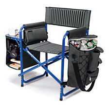 Picnic Time Blue Fusion Backpack Chair with Cooler