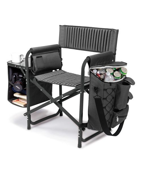 Picnic Time Oniva™ by Dark Gray Fusion Backpack Chair with Cooler