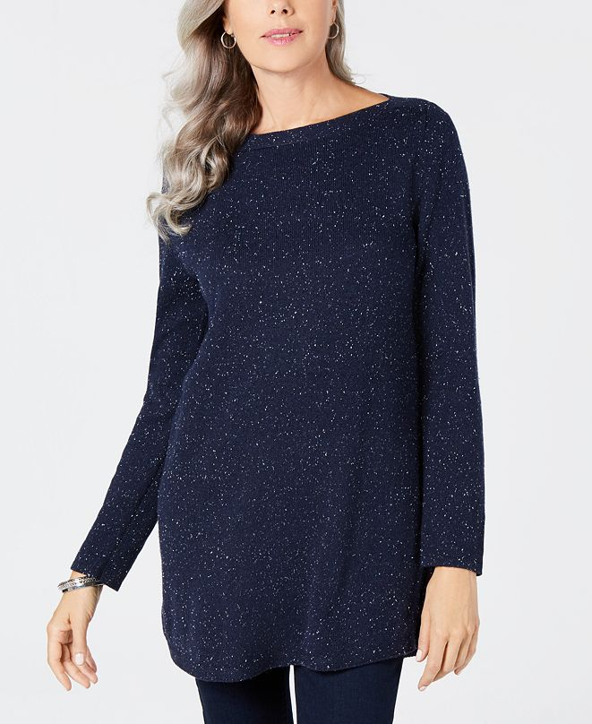 Karen Scott Curved-Hem Tunic Sweater, Created for Macy's