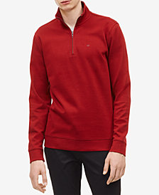 Calvin Klein Men's Classic Cotton Quarter-Zip Pullover Sweater
