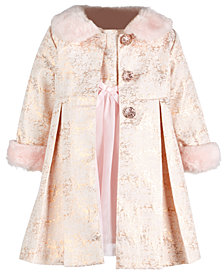 Blueberi Boulevard Baby Girls 2-Pc. Coat & Dress Set