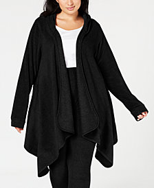 Cuddl Duds Plus Size Long-Sleeve Fleece Hooded Wrap