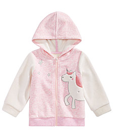 First Impressions Baby Girls Zip-Up Unicorn Hoodie, Created for Macy's