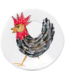 VIETRI Fortunata Rooster Salad Plate
