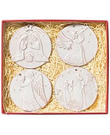 Vietri Ceramic Nativity Ornaments, Set of 4