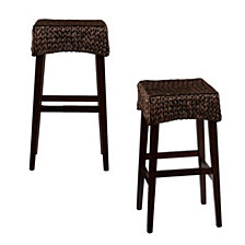 "Water Hycinth 26"" Counter Stool (Set Of 2), Quick Ship"