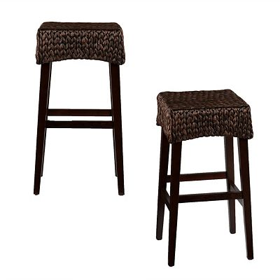 Southern Enterprises Water Hycinth 26 Counter Stool Set Of 2