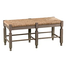 Karvina Seagrass Bench & Cocktail Table Set, Quick Ship
