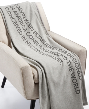 Image of Calvin Klein Modern Cotton Klein Throw Blanket Bedding
