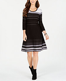 Nine West Striped Sweater Dress