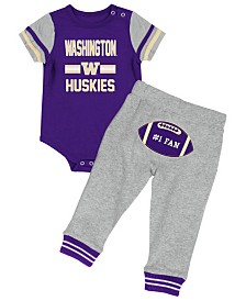 Colosseum Washington Huskies Football Creeper Pant Set, Infants (0-9 Months)