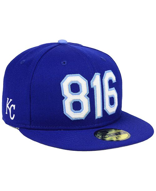 5e12721a352 New Era Kansas City Royals Area Code 59FIFTY FITTED Cap - Sports Fan ...