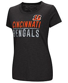 G-III Sports Women's Cincinnati Bengals Dynasty Stacked Glitter T-Shirt