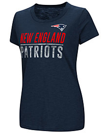 G-III Sports Women's New England Patriots Dynasty Stacked Glitter T-Shirt