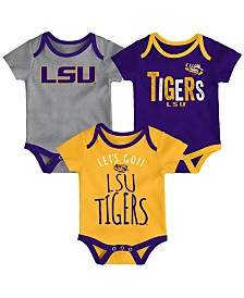 Outerstuff LSU Tigers Lil Tailgater 3 Piece Set, Infants (0-9 Months)